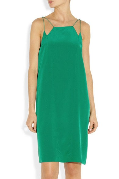 We're coming up to wedding season which means I need to start stocking up on event-appropriate dresses! This Tibi style plays homage to the 90s trend without going OTT — the emerald hue makes it much more appealing than basic black for outdoor soirees. I'll be teaming with leopard print two-strap heels and a textured clutch. — Marisa, POPSUGAR Australia publisher. Dress, approx $550, Tibi at Net-A-Porter.
