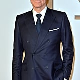 Colin Firth stepped out in London for the world premiere of Kingsman:  The Secret Service on Wednesday.