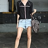 Ankle boots gave this cutoff look the necessary Fall factor. Source: Greg Kessler