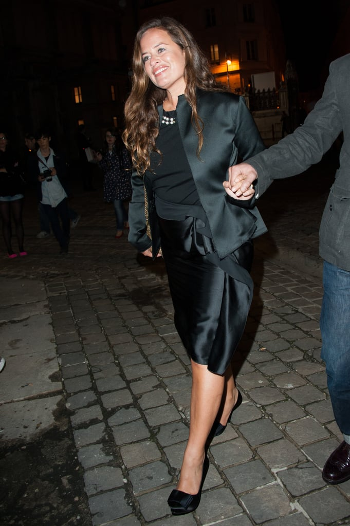 Jade Jagger attended the Lanvin show.