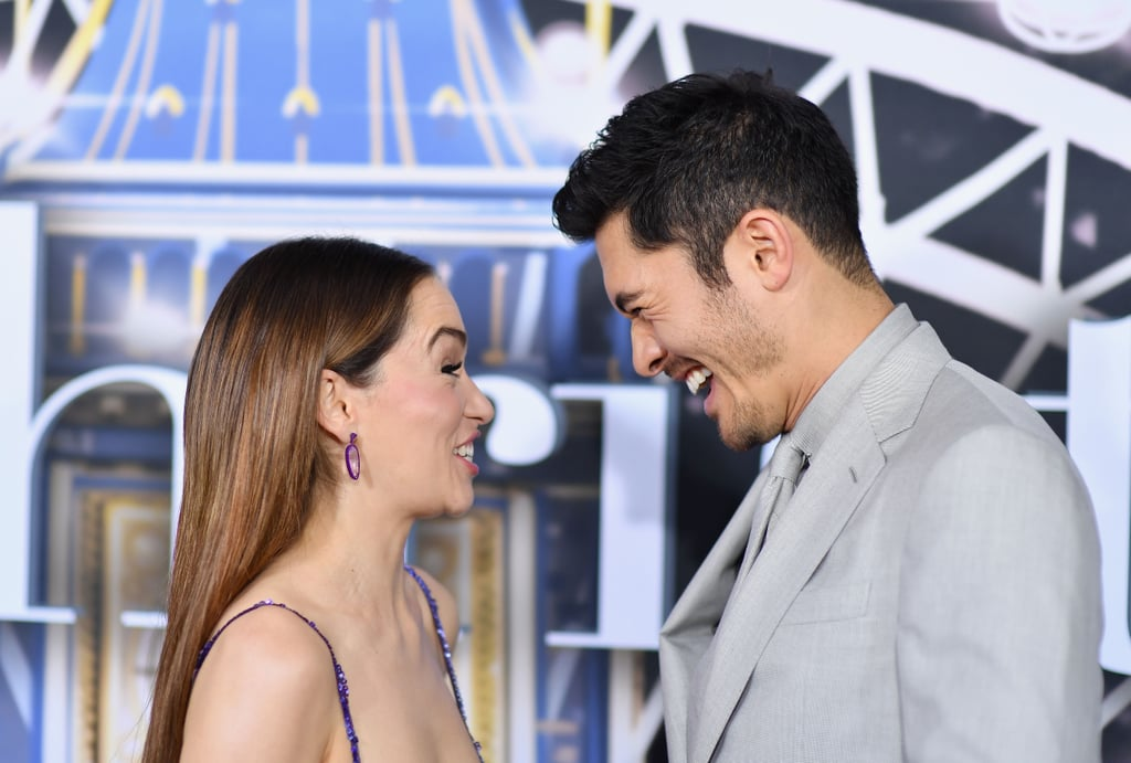 Emilia Clarke and Henry Golding at the Last Christmas Premiere