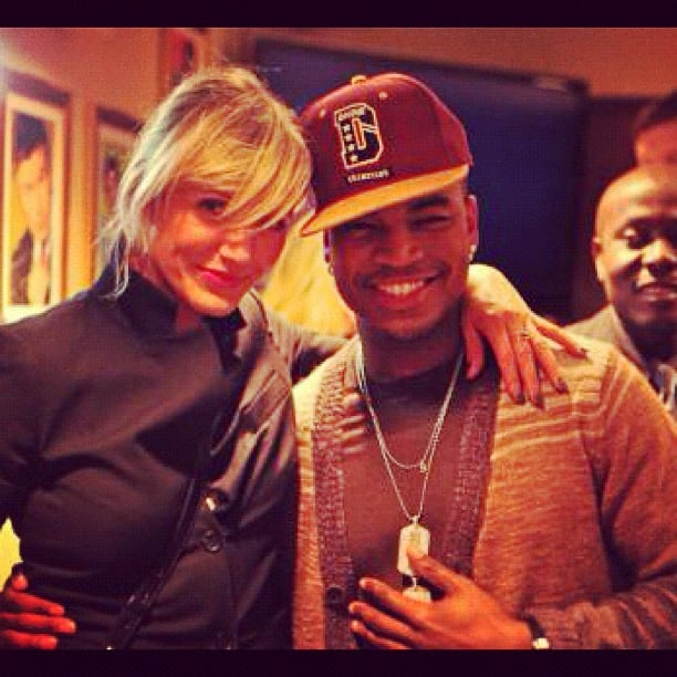 Cameron Diaz stopped by the Saturday Night Live studios and posed backstage with Ne-Yo. Source: Instagram user neyoisred