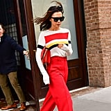 Victoria Beckham's Red Trousers November 2018