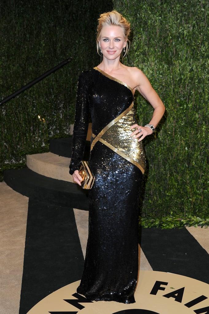 Naomi Watts arrived at the Vanity Fair Oscar party on Sunday night.