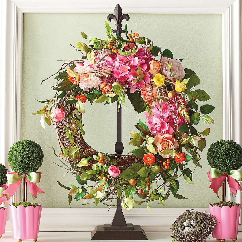18 Spring Decor Ideas: Spring Blossom Wreath ($129)