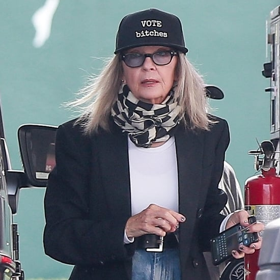 "See Photos of Diane Keaton Wearing a ""Vote B*tches"" Hat"