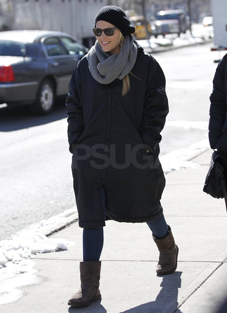 Pictures of Busy Phillips Keeping Warm in a Puffy Coat in NYC