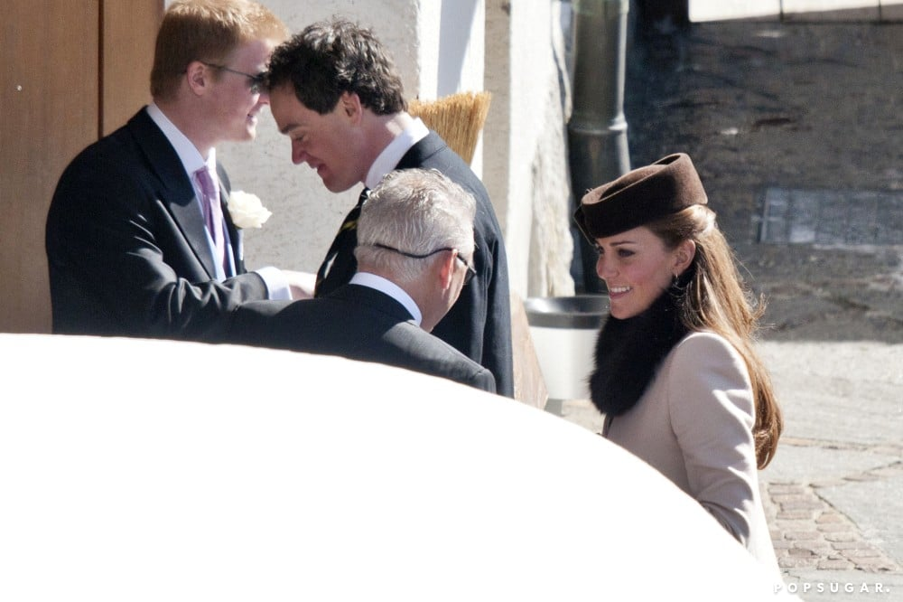 Kate Middleton arrived at a friend's wedding.