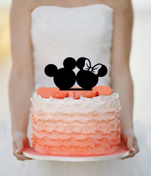 Mickey and Minnie Cake Topper ($15) | Disney Wedding Cake Toppers ...
