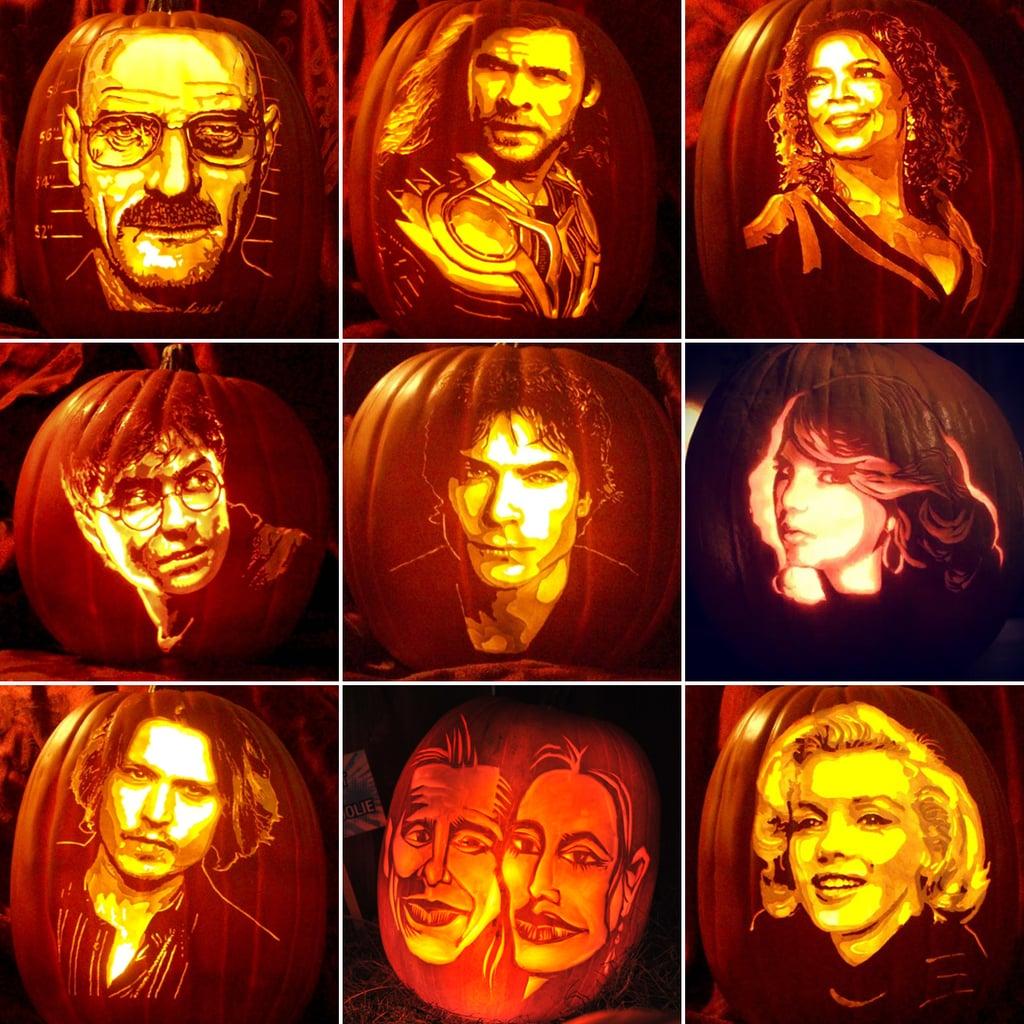 pop culture pumpkins popsugar celebrity