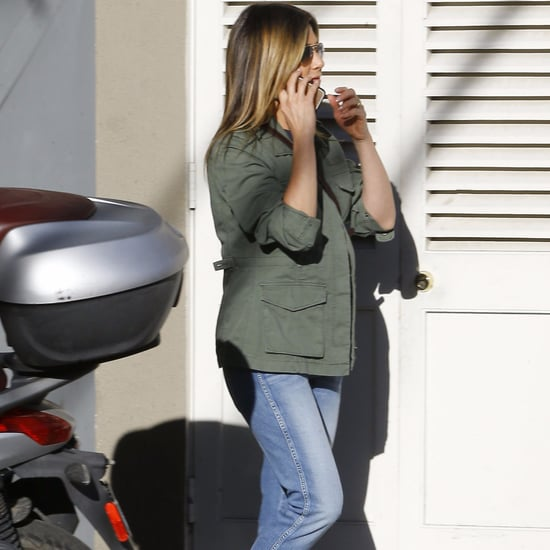 Jennifer Aniston Wearing Soludos Espadrille Sandals