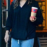 Mila Kunis picked up a coffee in LA.