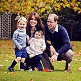 When She Cuddled Up to George and Charlotte in Their Family Portrait in December 2015