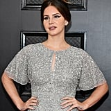 Lana Del Rey's Silver Metallic Nails at the 2020 Grammy Awards