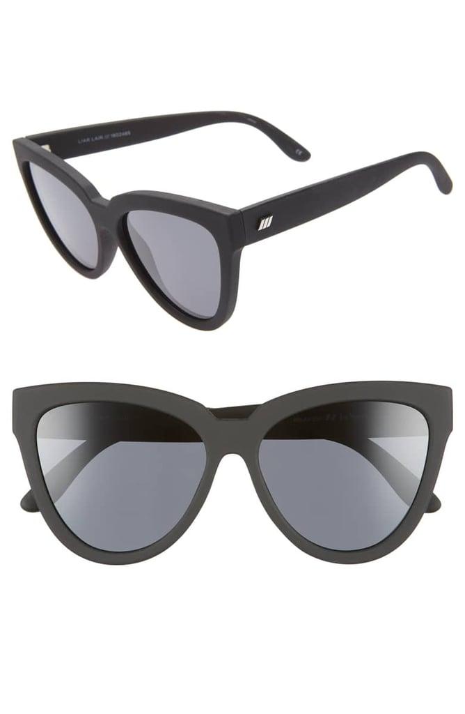 Le Specs Liar Liar Polarized Cat Eye Sunglasses