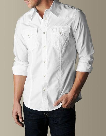 Mens Poplin Western Shirt