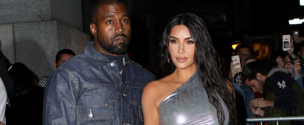 Kim Kardashian's Rick Owens Iridescent Dress With Kanye West