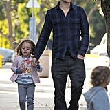 Pictures of Tobey Maguire and Jennifer Meyer With Otis and Ruby