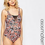 Third Trimester: ASOS Maternity Palm Print Swimsuit