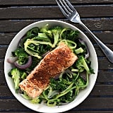 A new healthy dinner is in your future! Switch up your regular salmon dinner by baking it with spicy Cajun seasoning and setting it over a bed of zoodles and the veggies of your choice.