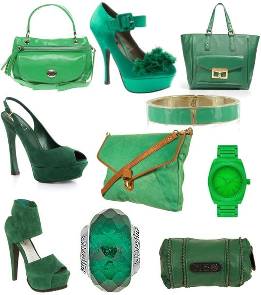 Green Handbags, Shoes and Jewellery for St Patrick's Day 2011