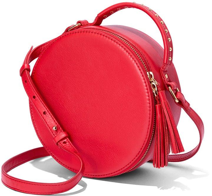 The Fix Orange Red Hampton Crossbody Leather Circle Bag