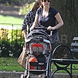 Tina Fey out with her daughter Penelope.