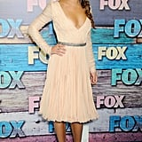 We couldn't help but fall for Lea Michele's ballerina-inspired style at Fox's All-Star Party. The Glee babe glowed in Emilio Pucci and a pair of satin Brian Atwood pumps.