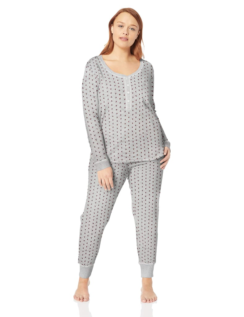 Tommy Hilfiger Women's Thermal Long Sleeve Ski Pajama Set