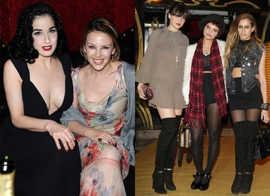 Photo Gallery Of Dita Von Teese, Kylie Minogue, Alice Dellal, Daisy Lowe, Pixie Geldof at Paris Fashion Week