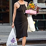 Sienna Can Make an LBD Work With a Pair of Sandals