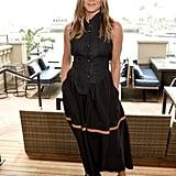 Jennifer Aniston Black Maxi Skirt With Stripe