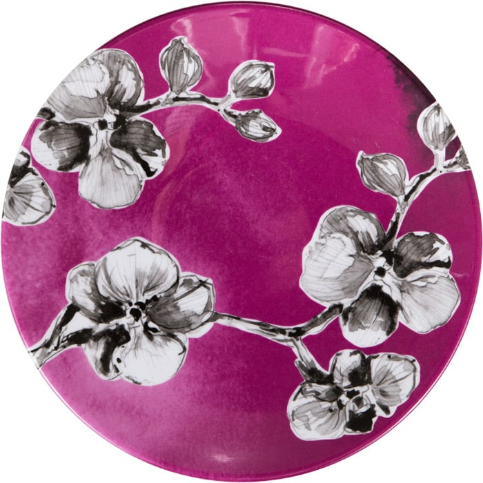 Creative Converting S/4 Melamine Lunch Plates, Black Orchid ($36)