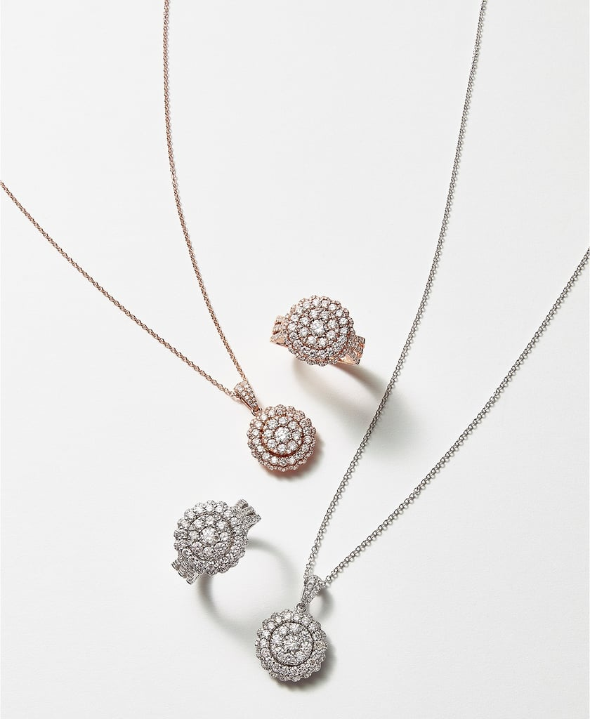 EFFY Halo Cluster Pendant Necklace
