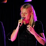 Gwyneth Paltrow sang in London.