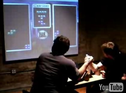 Arm Wrestling Plus Tetris Equals Tresling