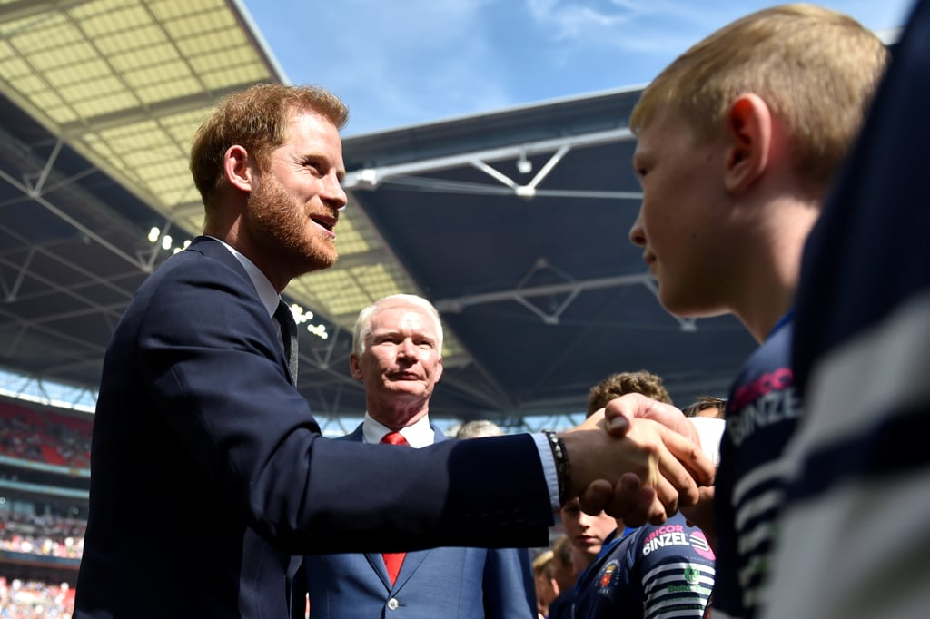 A Dapper Prince Harry Returns to Royal Duties at London's Rugby Challenge Cup