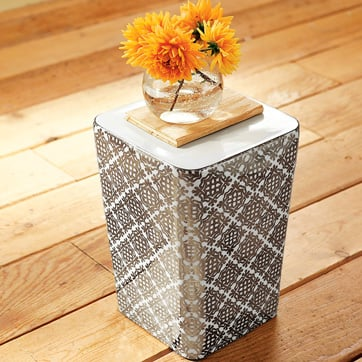 Nice and New: West Elm Decal Square Drum Table