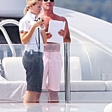 Simon Cowell vacationed in the French Riviera.
