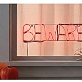 Hyde and Eek! Boutique Halloween Beware Glow Light Sign