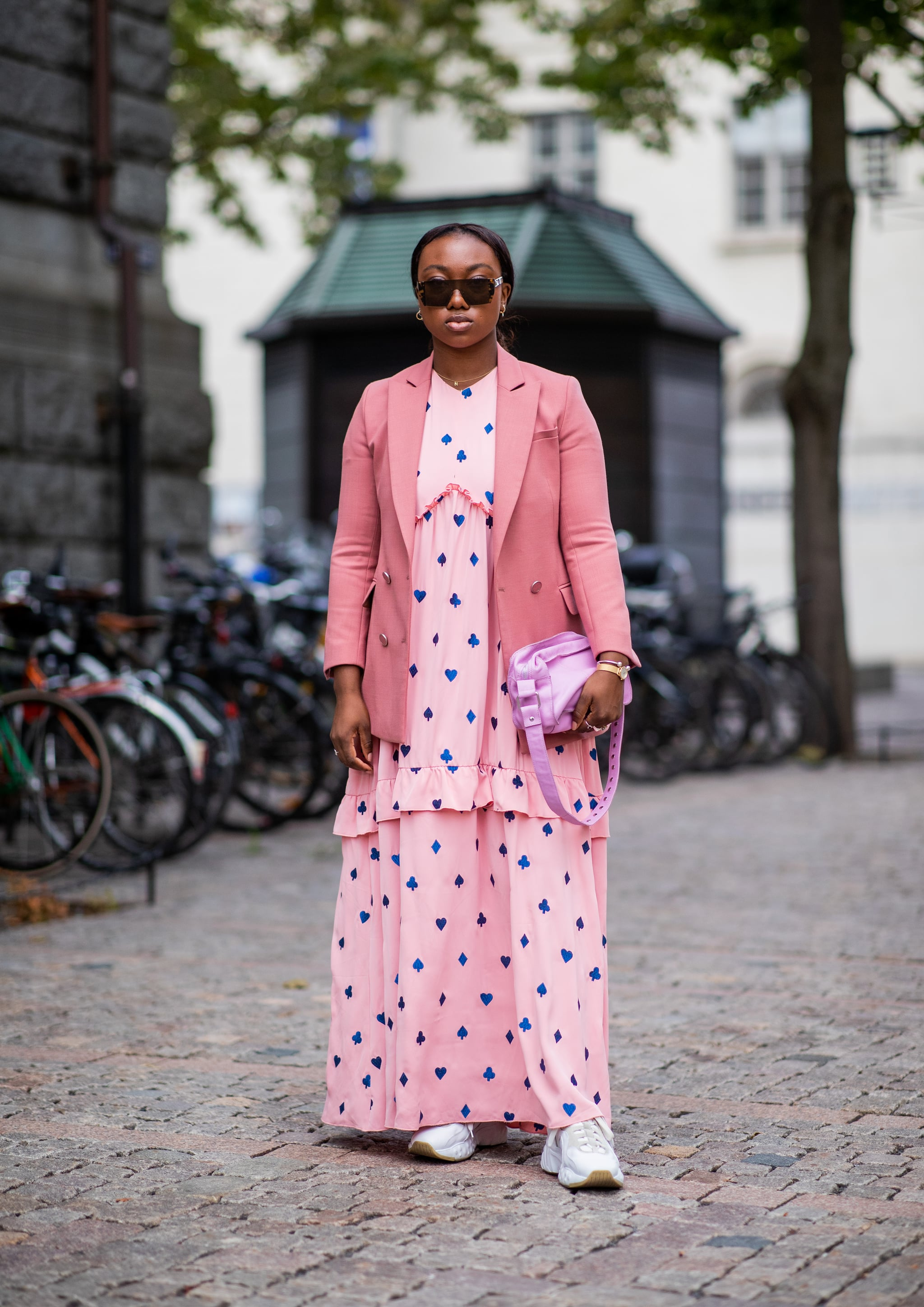 Dress Down a Maxi Dress With Trainers