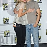 Blake Lively and Justin Long got silly during the convention in 2006.