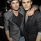 Ian Somerhalder and Paul Wesley met up at a party thrown by the CW in NYC in May 2010.