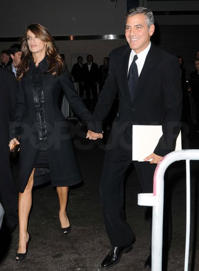 Pictures of George Clooney and Elisabetta Canalis Together in NYC 2010-11-18 12:30:00