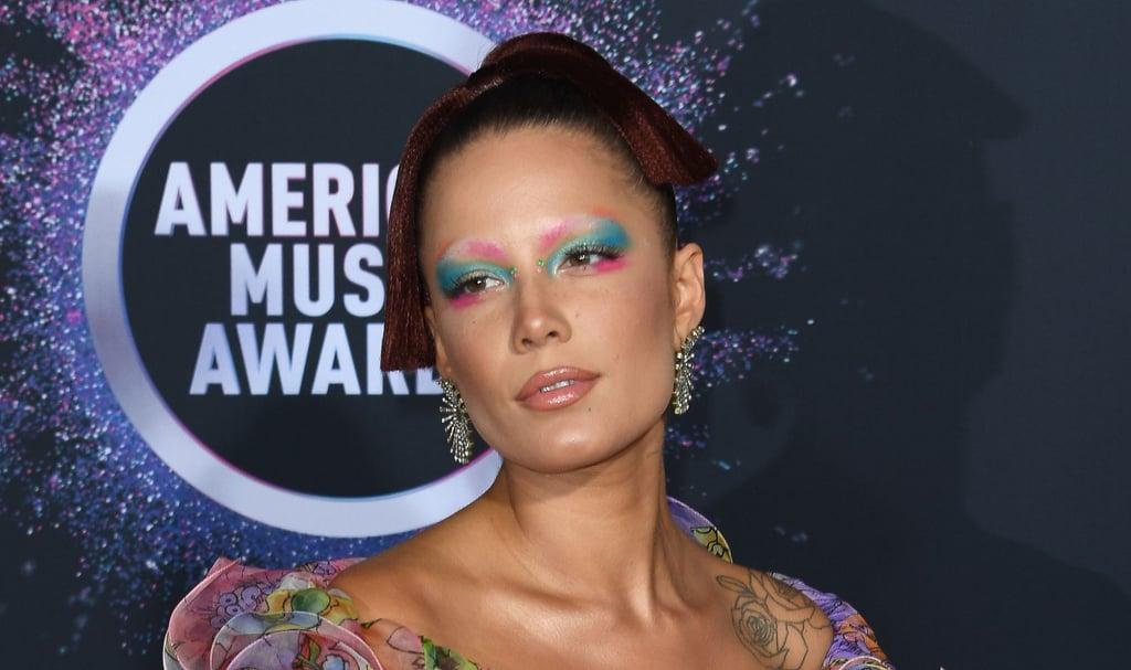 Halsey's Watercolor Makeup at the American Music Awards 2019