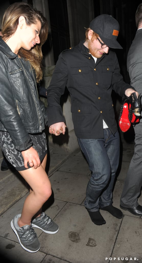 Guys, Ed Sheeran Literally Gave His Girlfriend the Shoes Off His Feet