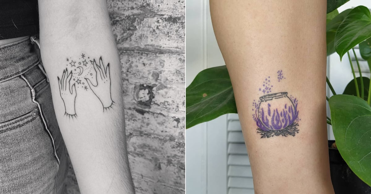 From Crystals to Tarot Cards, These Witch Tattoos Will Put a Spell on You