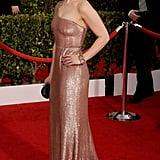 Emilia Clarke at the SAG Awards in Calvin Klein Collection