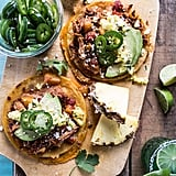 Pineapple Chicken Tinga Quesadilla Tostadas