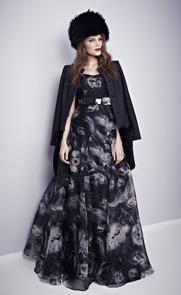 This Misha Nonoo floral-print silk organza gown is just dying to be twirled in. We dig the effortless styling, too.